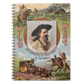 Buffalo Bills Wild West Show 1893 Vintage Ad Notebook