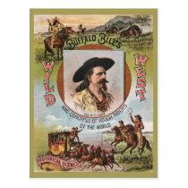 Buffalo Bills Wild West Show 1893 Vintage Retro Ad Postcard
