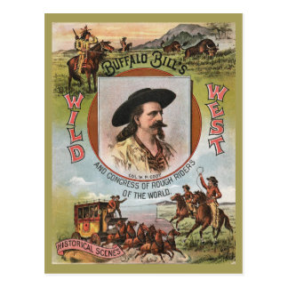 Buffalo Bills Wild West Show 1893 Vintage Retro Ad Postcard