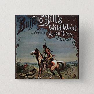 Buffalo Bills Wild West Show Button