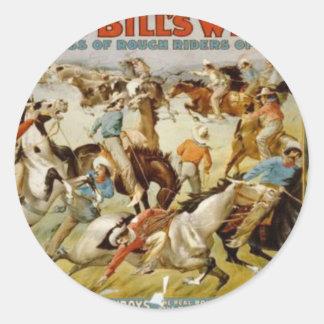 Buffalo Bill's Wild West Show Classic Round Sticker