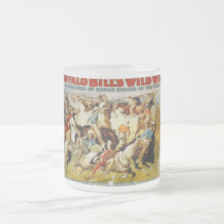 Buffalo Bill's Wild West Show Frosted Glass Coffee Mug