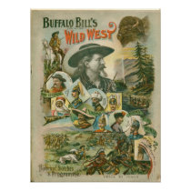 Buffalo Bill's Wild West Show Vintage Poster