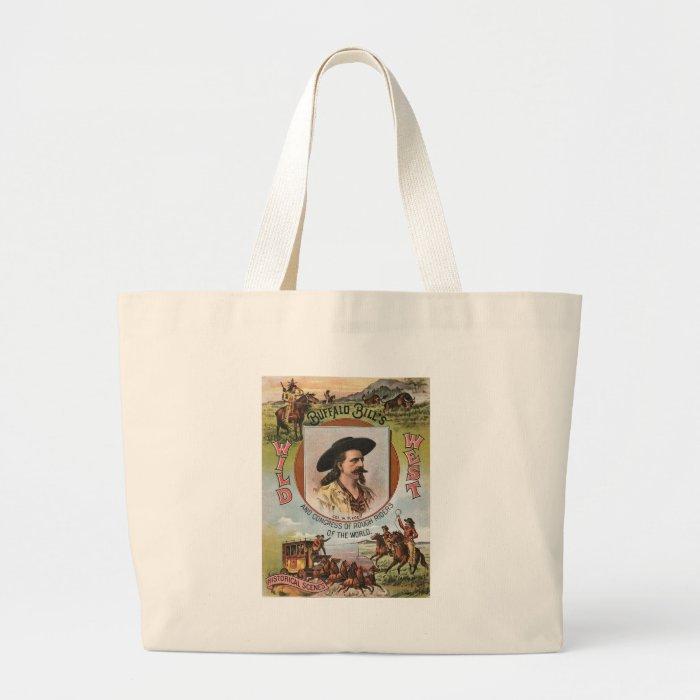 Buffalo BillsWild West Show 1893 Vintage Ad Large Tote Bag