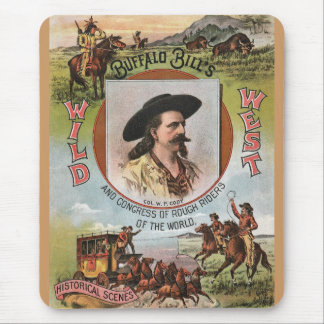 Buffalo BillsWild West Show 1893 Vintage Ad Mouse Pad