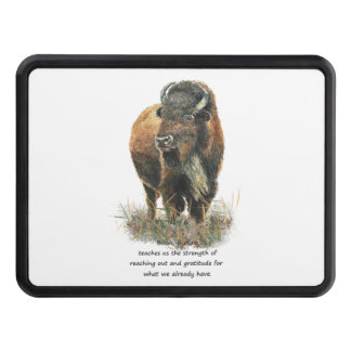 Buffalo Bison Animal Totem Spirit Guide Art Trailer Hitch Cover