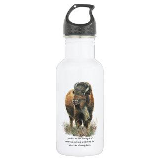 Buffalo Bison Animal Totem Spirit Guide 18oz Water Bottle
