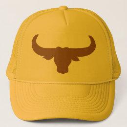 Buffalo Bison Bull Horns Mammalia Animal Trucker Hat