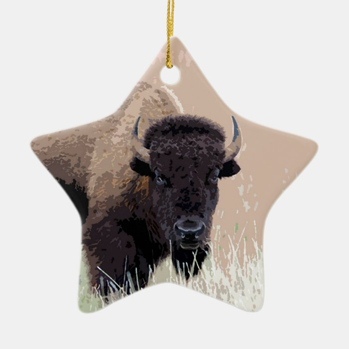 Buffalo / Bison Ceramic Ornament