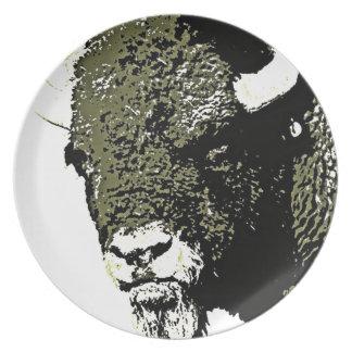 Buffalo - Bison Dinner Plate