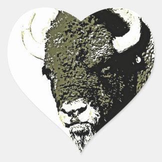 Buffalo - Bison Heart Sticker
