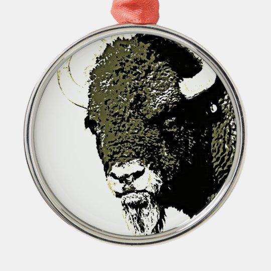 Buffalo - Bison Metal Ornament