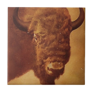 Buffalo / Bison Ceramic Tile