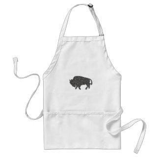 Buffalo Blocked Adult Apron
