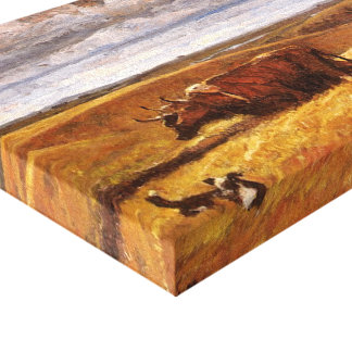 Buffalo Bones Plowed Under by Harvey Thomas Dunn Stretched Canvas Prints