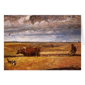 Buffalo Bones Plowed Under by Harvey Thomas Dunn Greeting Card