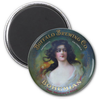 Buffalo Brewing Company, Sacramento, CA 2 Inch Round Magnet