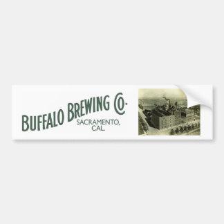 Buffalo Brewing Company, Sacramento, CA Car Bumper Sticker