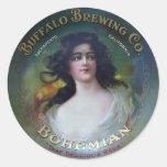 Buffalo Brewing Company, Sacramento, CA Classic Round Sticker