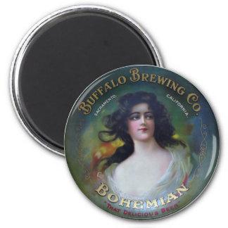 Buffalo Brewing Company Sacramento CA Imán De Frigorifico