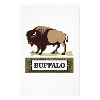 buffalo brown tag stationery