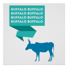 Buffalo Buffalo Print