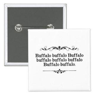 Buffalo Buffalo Sentence Pinback Button