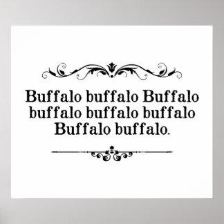 Buffalo Buffalo Sentence Print