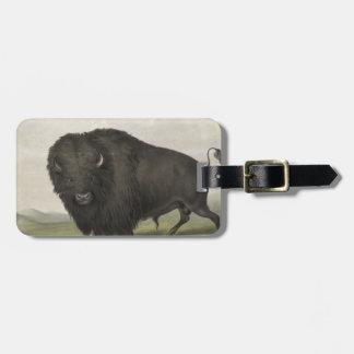 Buffalo Bull Grazing by George Catlin Luggage Tag