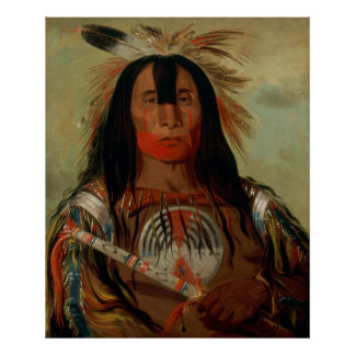Buffalo Bull's Back Fat Head Chief Blood Tribe Poster
