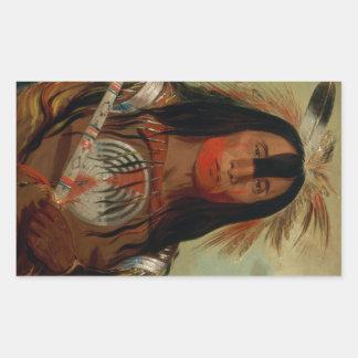Buffalo Bull's Back Fat Head Chief Blood Tribe Rectangular Sticker