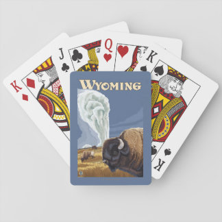 Buffalo by Old Faithful Vintage Travel Poster Deck Of Cards