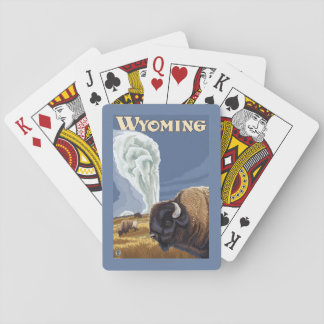 Buffalo by Old Faithful Vintage Travel Poster Poker Cards