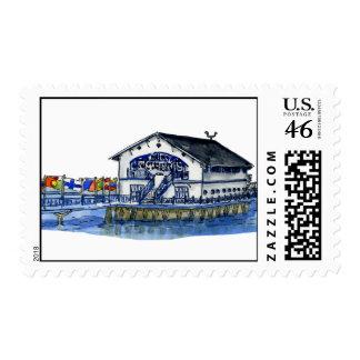 Buffalo Canoe Club Boat House Postage Stamp