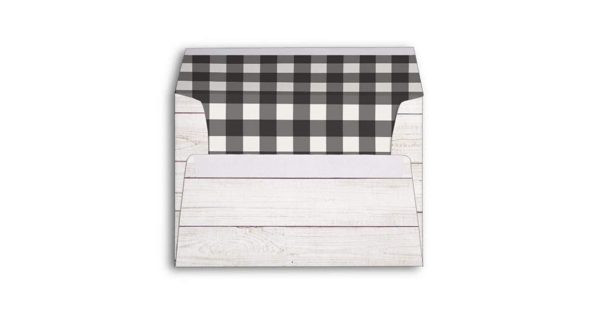 Peachy Buffalo Check And Shiplap Rustic Farmhouse Envelope Zazzle Com Pdpeps Interior Chair Design Pdpepsorg