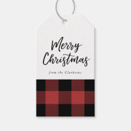Buffalo Check Christmas Gift Tag