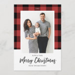 "Buffalo Check Christmas Photo Card<br><div class=""desc"">5x7 Buffalo Check,  Christmas photo Card. Customizable. Part of a collection</div>"
