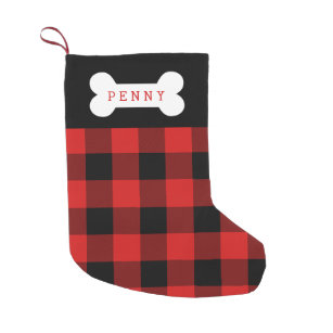 buffalo check dog stocking