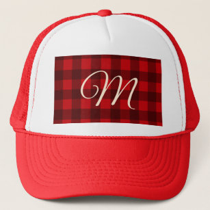 d5ab19be Buffalo Check Plaid Christmas Pattern Trucker Hat