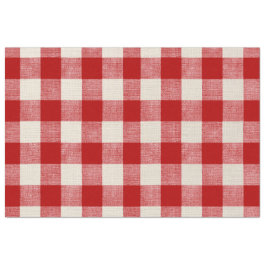 Buffalo Check Red Decoupage Paper