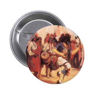 Buffalo Dance by Gerald Cassidy, Vintage Dancers Pins