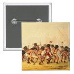 Buffalo Dance, c.1832 2 Inch Square Button