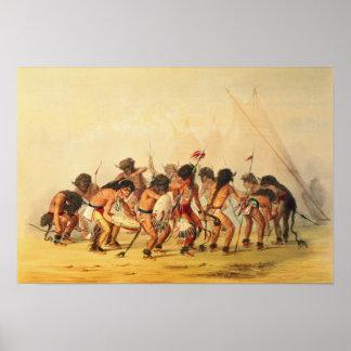 Buffalo Dance, c.1832 Poster