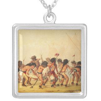 Buffalo Dance, c.1832 Square Pendant Necklace