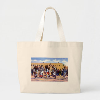 Buffalo Dance of the Pueblo Indians Large Tote Bag