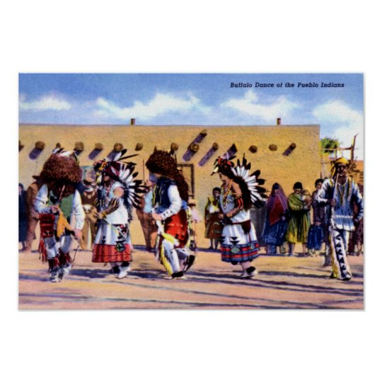 Buffalo Dance of the Pueblo Indians Poster