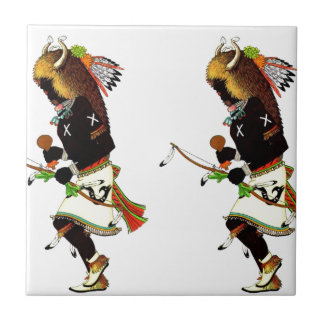 Buffalo Dancers Ceramic Tiles