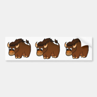 Buffalo Design Bumper Sticker