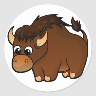 Buffalo Design Classic Round Sticker