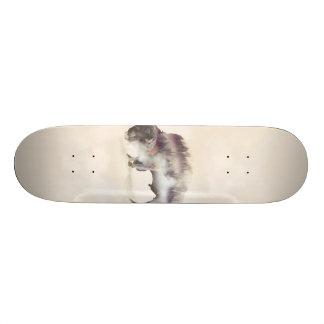 Buffalo-double exposure-american buffalo-landscape skateboard